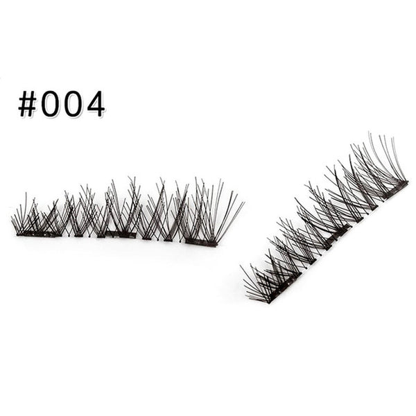 4 Styles 3D Magnetic Eyelashes Reusable Natural Waterproof Extensions