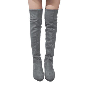 Women's Colorful  Designer Style Over Knee High Boot Collection - icu-sexy