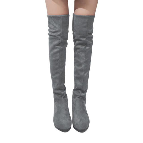 Women's Colorful  Designer Style Over Knee High Boot Collection - ICU SEXY