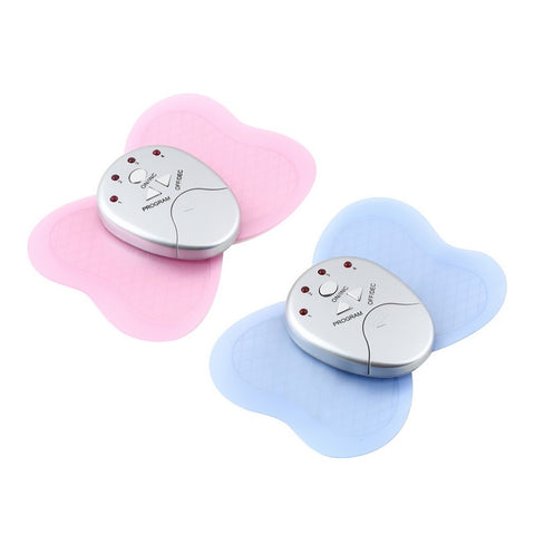 Newest Mini Electronic Body Muscle Butterfly Massager Slimming Vibration Fitness Professional Health Care Red/Blue Color Hot - icu-sexy