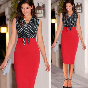 Women's Polka Dot Print Dresses Summer Sheath Dresses - ICU SEXY