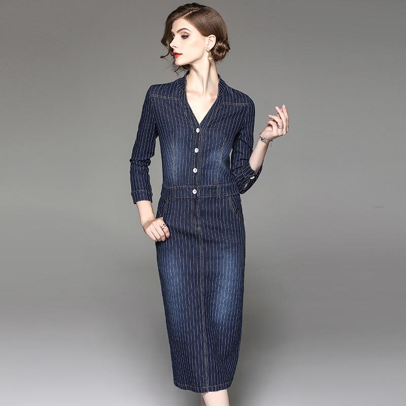 Europe Style Fashion Woman Dress  New Denim Dress - icu-sexy