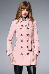 women's Long Quilted Jacket Women Doubled Breasted Winter Coat - icu-sexy