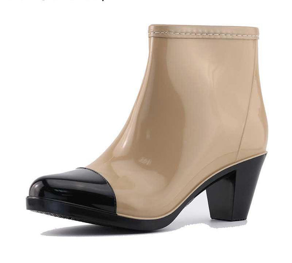 Woman's Short Ankle Waterproof Rain Boots - icu-sexy