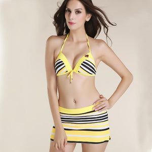 Women's Mini Skirt 3 Piece Push Up Swimsuit - ICU SEXY