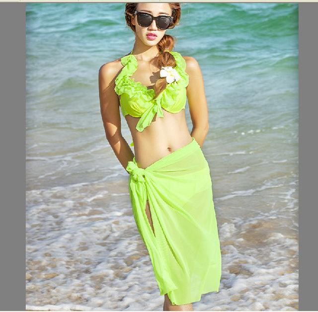 Women's Bikini Set With CoverUp Women Sexy Push Up Swimsuit Female Brazilian Beachwear - ICU SEXY