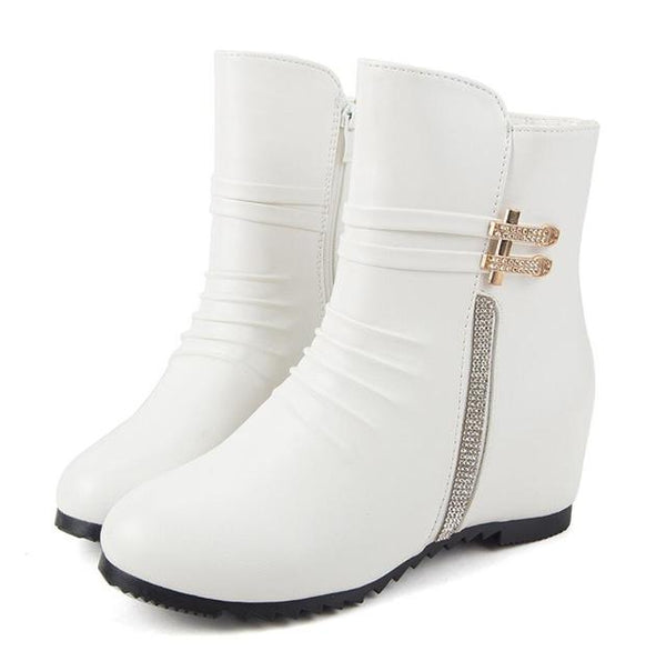 Autumn Winter Fashion Women's Designer Style Sparkling Ankle Boots