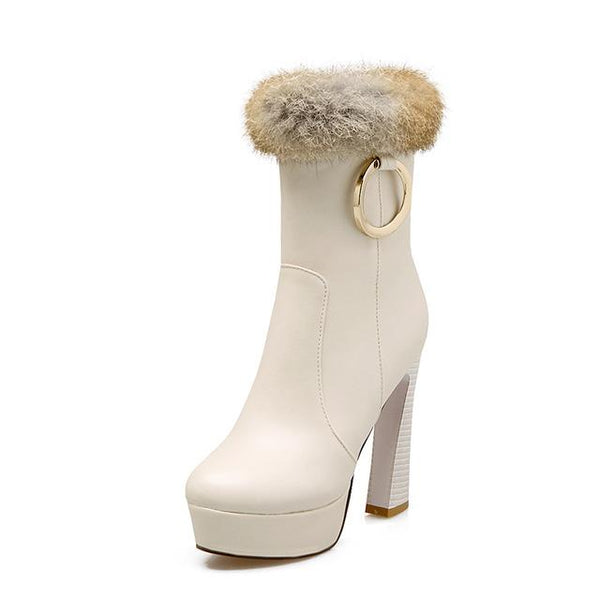 NEW women boots sexy mid calf winter high heels boots - ICU SEXY
