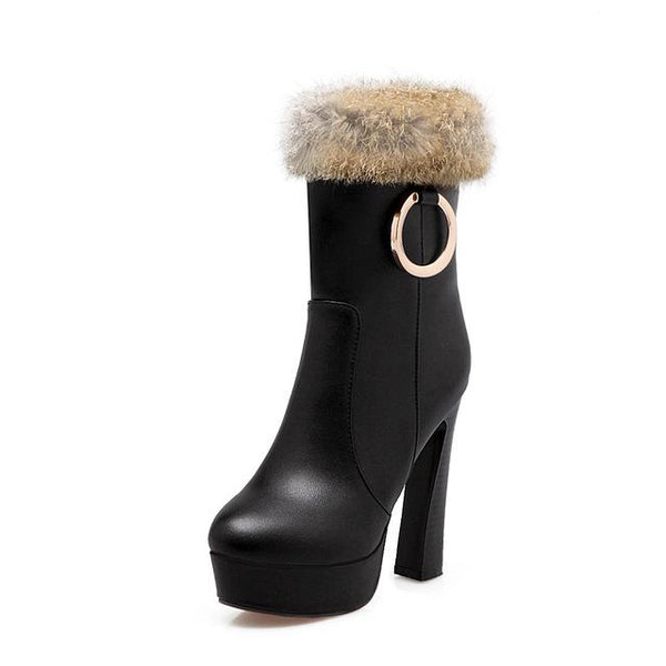NEW women boots sexy mid calf winter high heels boots - icu-sexy