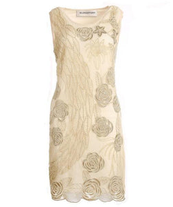 Vintage Sleeveless 1920S Sequined Embroidery Dress - icu-sexy