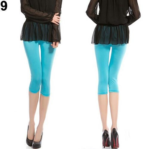 Women's Candy Color Capris Cropped Pants - ICU SEXY