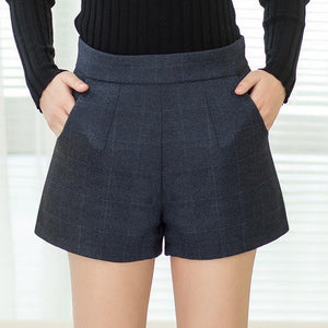 Women's Fall  Winter Fashion Wool Slim Shorts - ICU SEXY