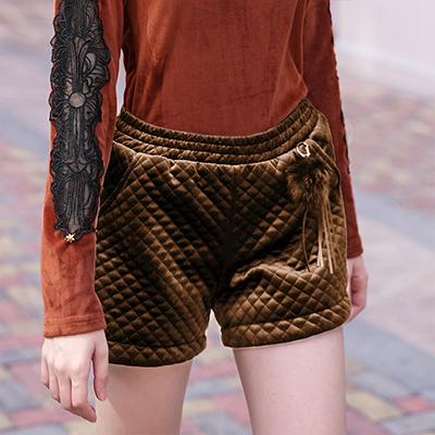 New Autumn Popular Designer Style Warm Winter Quilted Shorts - ICU SEXY