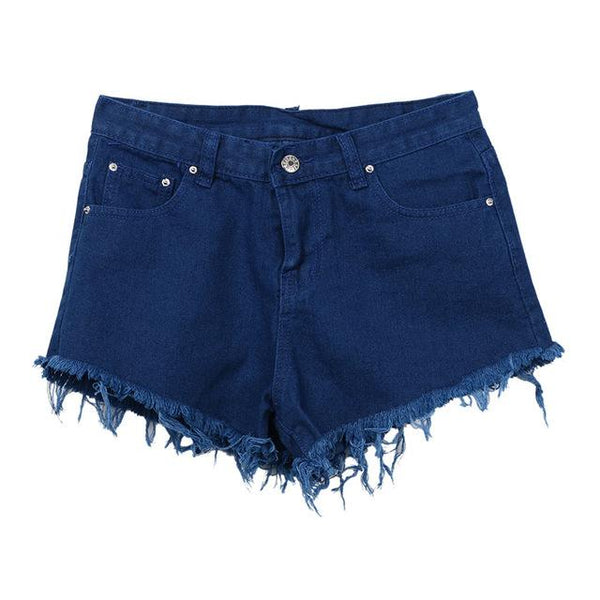 Women's Fashion Sexy Hot Summer Casual Denim Shorts High Waist Short - ICU SEXY