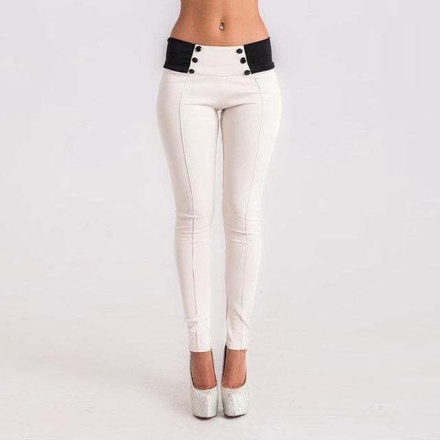 Women's High Waist Stretch Slim Pencil Trouser Casual Leggings - icu-sexy