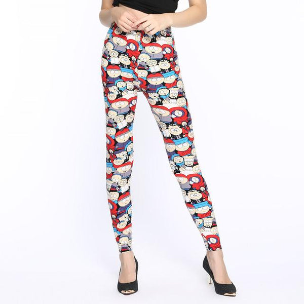 Women Leggings  New Fashion High Waist Cross Prints Trousers Soft Female Casual Sexy Elastic Pant - icu-sexy