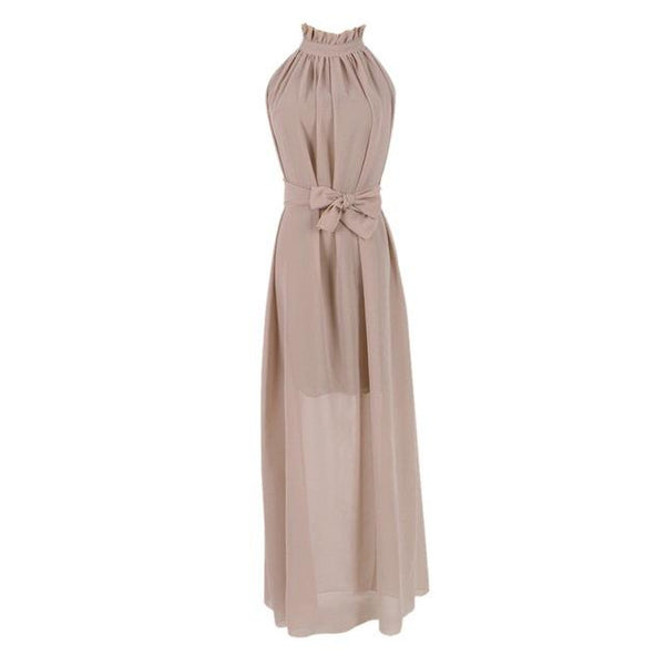 Women's Summer Boho Long Chiffon Maxi Dress - icu-sexy