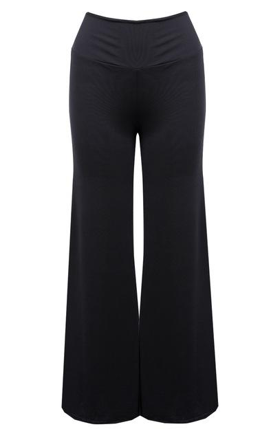 Solid Palazzo Wide Leg Flared Trousers Legging Pants - icu-sexy