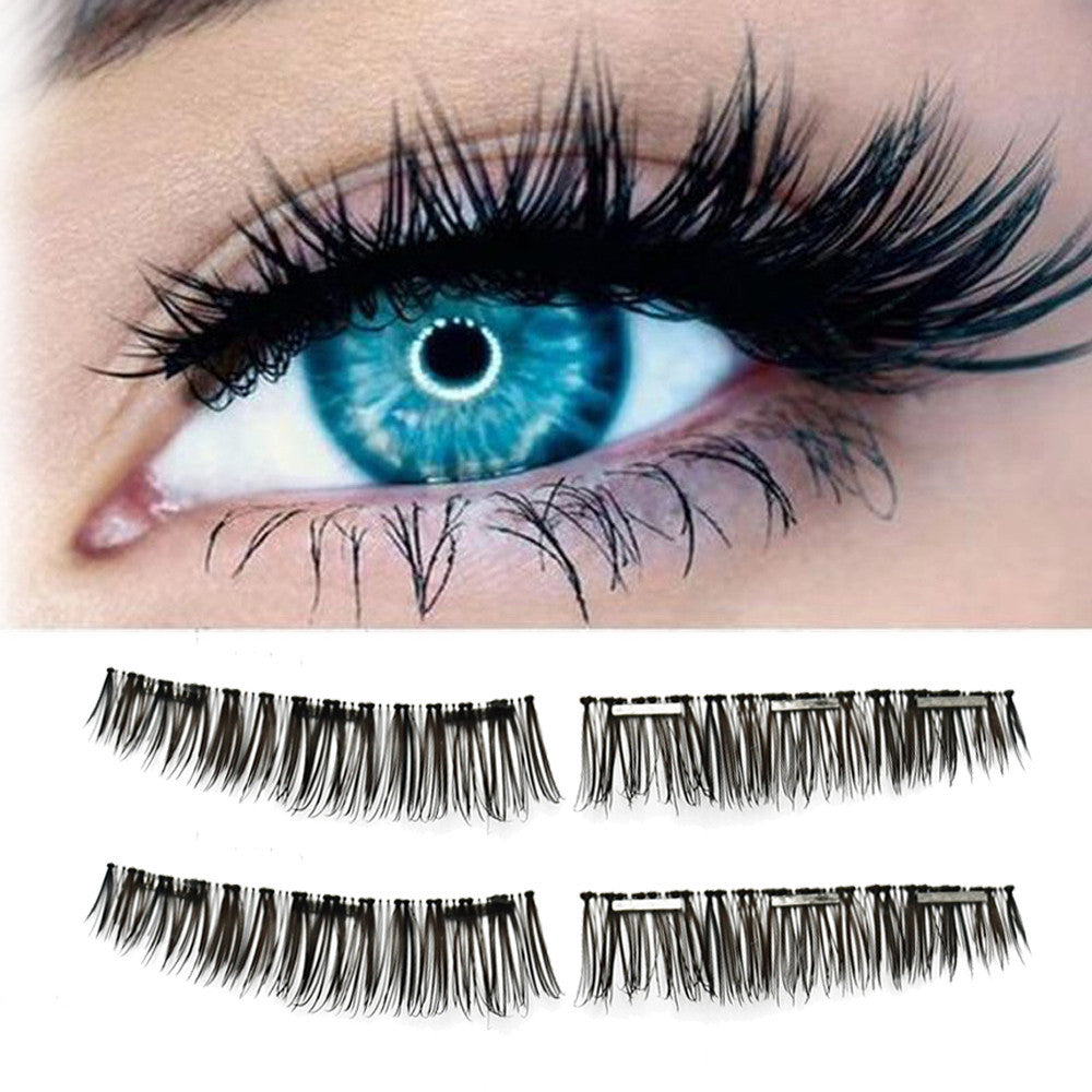 NEW Ultra-thin 0.2mm Magnetic Eye Lashes 3D Reusable Waterproof - icu-sexy