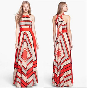 Popular Designer Style Geometric Pattern Fashion Sundress - ICU SEXY