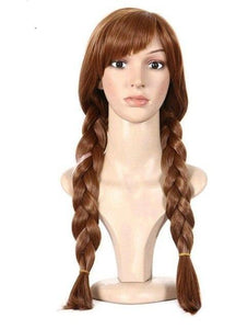 Hair Cap+ High Temperature Fiber Natural Brown Double Braided Wig - ICU SEXY