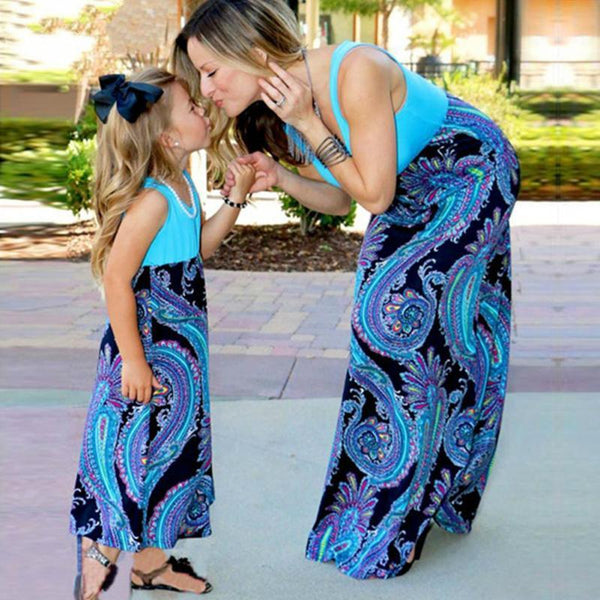 Popular Fashion Mother and Daughter Casual Matching Dress Set - icu-sexy