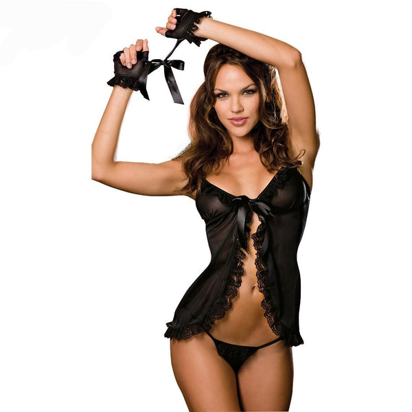 Women's Sexy Lingerie Women Lace Floral Babydoll Set - icu-sexy