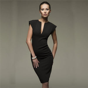 New Style Sexy V Collar Self Cultivation Dress - icu-sexy
