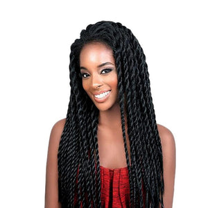 Women's Black Natural Twist Braids Wig Synthetic Lace Front Wig Afro 2x Twist Braids Wig - icu-sexy