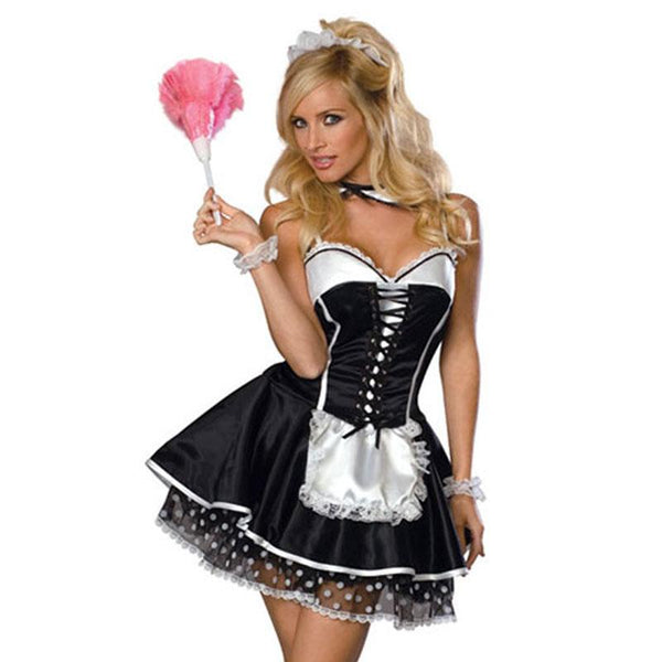 Women's Elaborate French Maid Costume - ICU SEXY