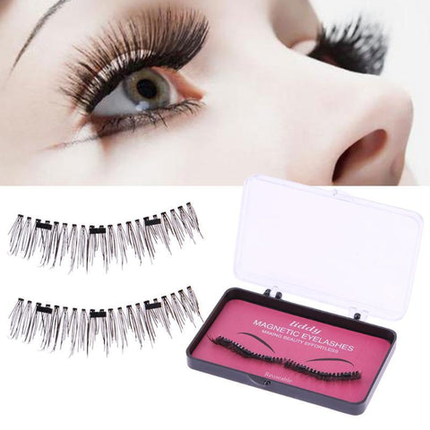 Magnetic False Eyelashes with 3 Magnets Handmade Eye Lash Extensions - icu-sexy