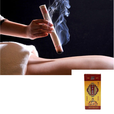 Ten Years Old Moxa Roll Pure Mox stick 18x200mm 10pcs/box moxibustion mugwort moxa Artemisia acupuncture - icu-sexy
