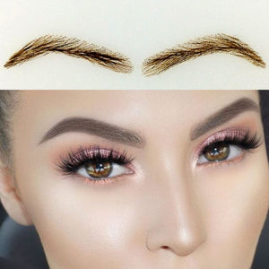 2017 Promotion Real Offer Sobrancelha 019 Human Hair Eyebrow Extensions / Thick False Eyebrows Set Shaping/eyebrow Tattoo