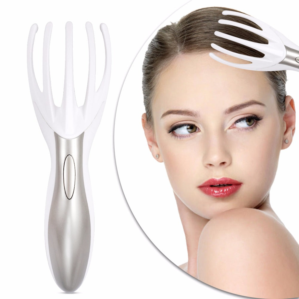 Electric Head Massage Comb Multifunctional Five Claw Massage Vibration Massage Comb for Whole Body - icu-sexy