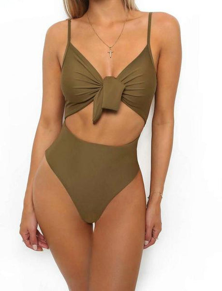 Women's OnePiece High Waist Bathing Suit - ICU SEXY