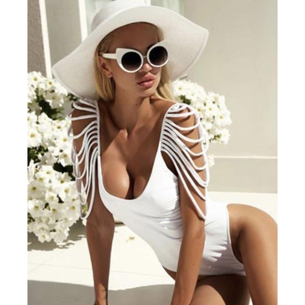 Women's Wintage Bathing Suit Backless Monokini Bodysuit Beach Wear Swim - icu-sexy