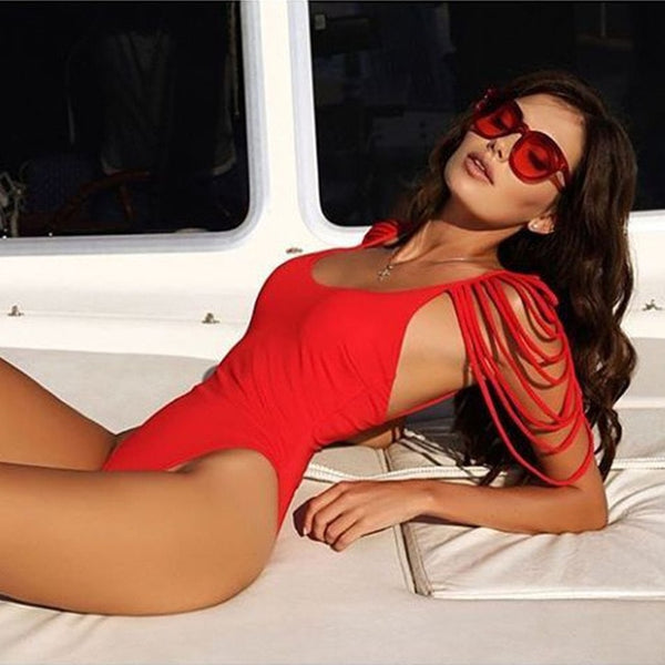 Women's Wintage Bathing Suit Backless Monokini Bodysuit Beach Wear Swim - ICU SEXY