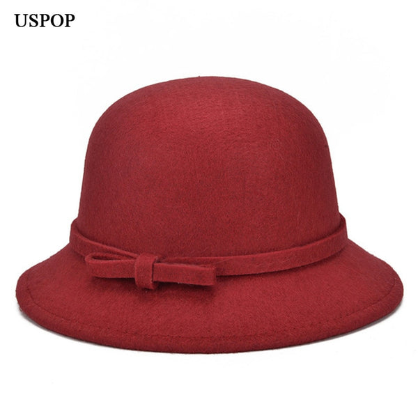 Women's Newest Bowknot Fedoras Casual Warm Hats for Female - ICU SEXY