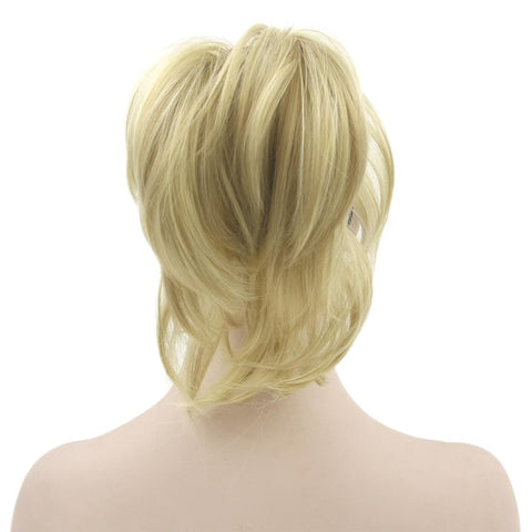 High Temperature Blonde Claw Ponytail Synthetic Clip In Hair Extension - ICU SEXY