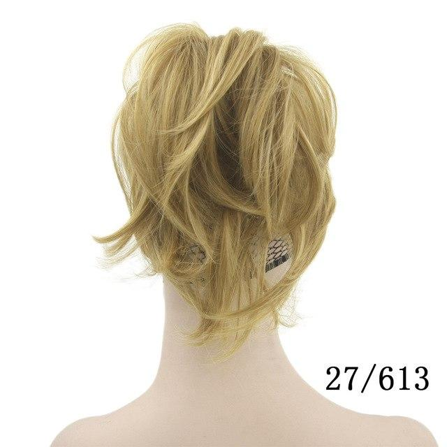 High Temperature Blonde Claw Ponytail Synthetic Clip In Hair Extension - icu-sexy