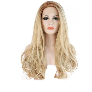 High Temperature 360 Lace frontal Wig Long Wavy Synthetic Lace Front - icu-sexy