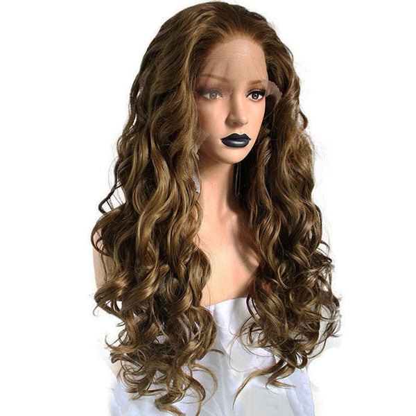 High Temperature Fiber 360 Lace Frontal Long Body Wave Full Hair Wig - ICU SEXY