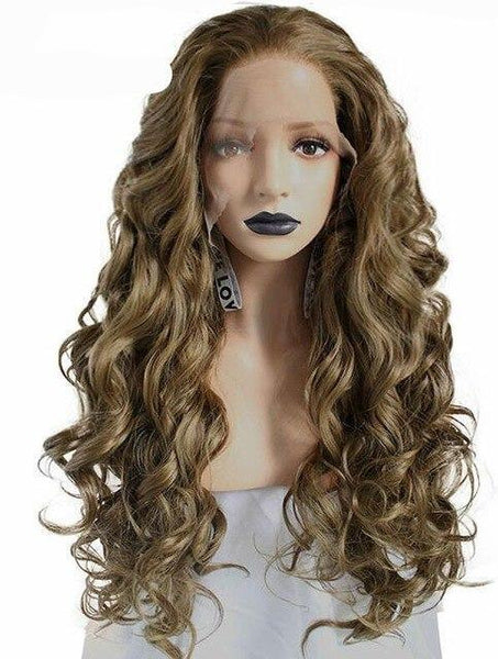 High Temperature Fiber 360 Lace Frontal Long Body Wave Full Hair Wig - icu-sexy