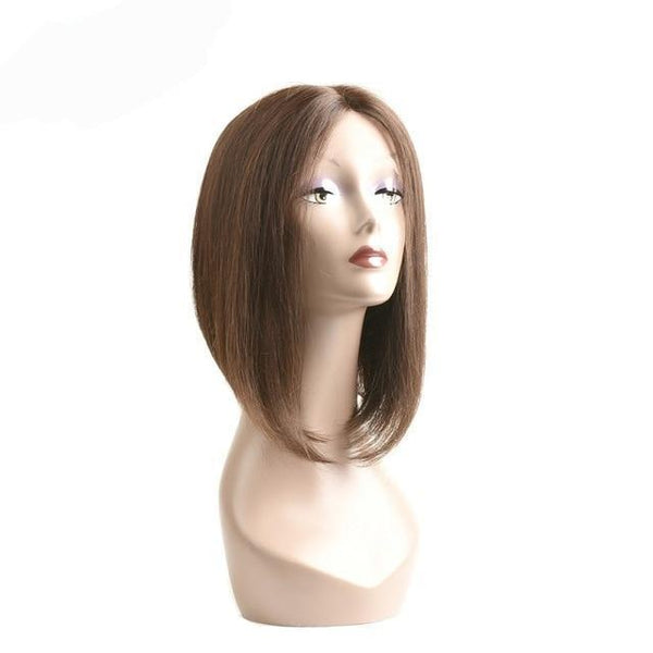 Natural Black Lace Part Full Frontal Lace Bob Brazilian Hair Wig - icu-sexy