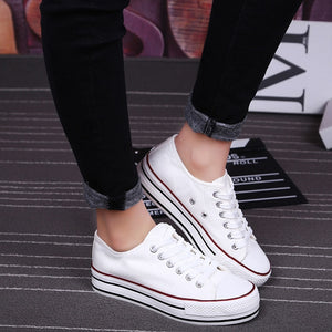 Women's Breathable Vulcanized Canvas Sneakers - ICU SEXY