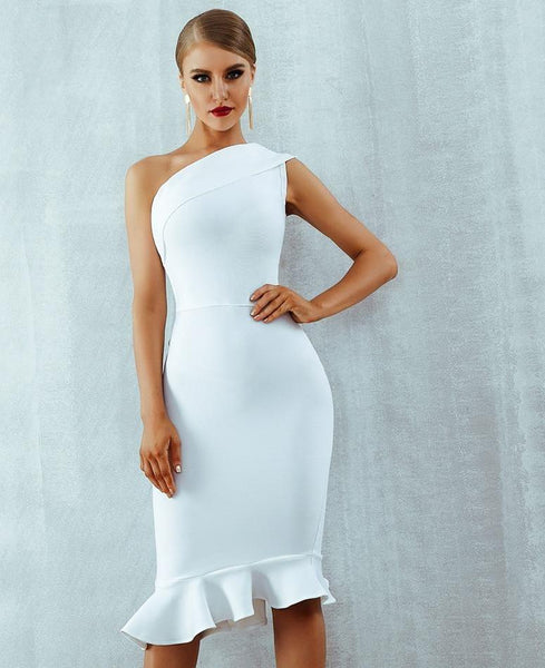 Women's New Style Off Shoulder Sleeveless Ruffle Luxury Formal Evening Dress - ICU SEXY