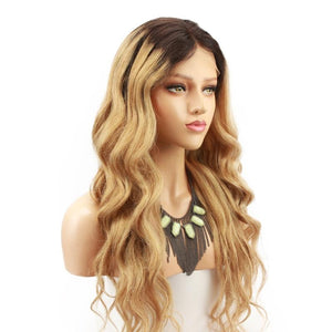 360 Lace Frontal Wigs Blonde Human Hair Glueless Lace Wigs Pre Plucked With Baby Hair - ICU SEXY