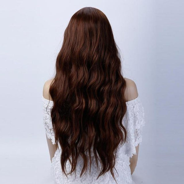 Long Black Wavy Wig Heat Resistant Natural  Heat Resistant Wig In 11 Colors - ICU SEXY