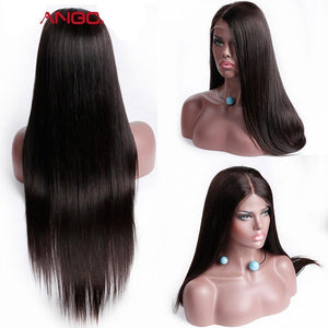 Full End Lace Frontal Human Hair Wig Pre Plucked Long and Straight - icu-sexy
