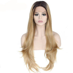 High Temperature Fiber 360 Frontal Lace Long Natural Wave Wig - ICU SEXY